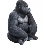 Deco Object Monkey Gorilla Side XL Zwart