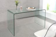 Design glazen Bureau 120 cm transparant Tafel volledig glazen tafel