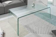 Extravagante glazen salontafel FANTOME 110 cm transparant