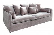 Grote bank HEAVEN 3-zits 210 cm taupe velours stof