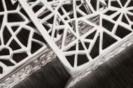 Handgemaakte Design Salontafel Zilver ABSTRACT 49 cm set van 2
