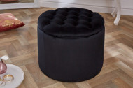 hocker met opbergruimte 50 cm zwart fluweel stof