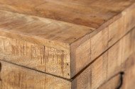 Industriële kistbank 115cm natuurlijke mangohouten ! ook te gebruiken als tafel en tv meubel