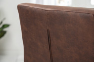 Industriële sledestoel RIDER vintage bruin met metalen frame