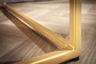 Massief Acaciahout Vitrinekast bruin goud RECHT 120 cm retro stijl