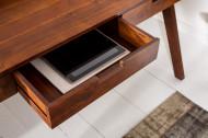 Massief bureau 120 cm acacia bureau met een opvallende afwerking