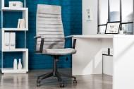 Modern design bureaustoel LAZIO highback microfiber vintage grijze executive stoel met armleuningen