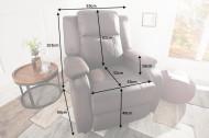Moderne relax fauteuil Bruin fauteuil met ligfunctie