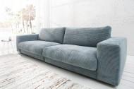 Ontwerp Sofa SEVENTIES Candy levensstijl lichtblauw 250cm