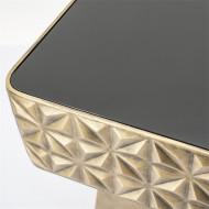 salontafel vierkant goud metaal