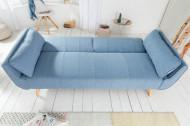 Scandinavisch Design slaapbank 215cm lichtblauw bed functie 3-zits bank