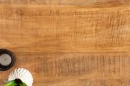 Solide salontafel IRON CRAFT 60 cm mangohout industrieel design