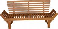 Tuinbank van massief acaciahout, inclusief zit en rugkussens in de kleur antraciet