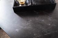 Uitschuifbare eettafel Gomes 180-220-260 cm keramiek plaat in grafiet look