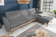 Design loungebank SKAGEN 265 cm antraciet Scandinavisch design loungebank met slaap functie.lounge gedeelte aan beide zijde op te monteren.