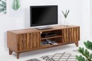 Design TV Board RETRO 145cm Klassieke design-steen in Sheesham-stijl
