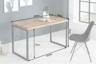 Elegant bureau sheeshamhout metalen frame 118 cm