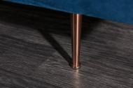 Elegante Récamière DIVA 196 cm donkerblauw fluwelen roségouden voetjes