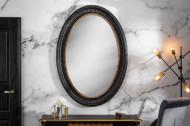 Elegante wandspiegel VENICE 135 cm zwart goud massief houten frame