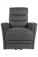 Elektrische Relax fauteuil met ligfunctie - grijs