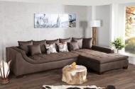 Exclusieve bruine antieke woonlandschap Design sofa MOMBASA