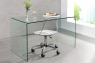 Extravagante glazen Bureau FANTOME 120 cm transparant Tafel volledig glazen tafel