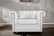 Fauteuil Model: Chesterfield - Wit