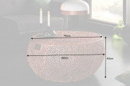Filigraan design salontafel 80cm koper handwerk met handvatten