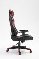Gamingstoel Rood/zwart met LED