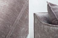 Grote bank Leaf 3-zits 210 cm taupe velours stof met afneembare hoes