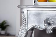 Handgemaakt Barok Kaptafel,Sidetable Consoltafel 110 cm zilver