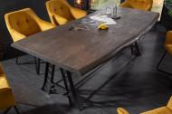 Industriële eettafel MAMMUT INDUSTRIAL 220 cm gezandstraald grijs acacia