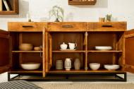 Massief dressoir INFINITY HOME 160 cm mangohout industrieel design