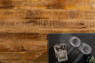 Massieve eettafel INDUSTRIAL 240 cm mangohout met zwart metalen frame