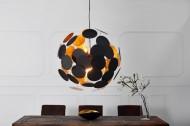 Moderne design hanglamp INFINITY HOME 70cm zwart gouden hanglamp