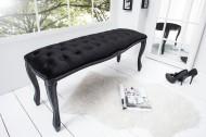 Noble Ontwerp Bank BOUTIQUE 115cm zwart fluweel