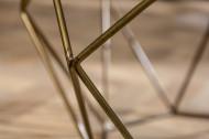 Salontafel Messing met Marmerblad Wit Diamond 69 cm