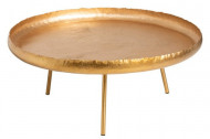 Salontafel Rond Metaal Goud 83,5cm