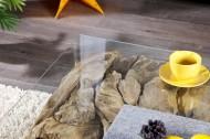 Salontafel Vierkant Drijfhout met glasplaat 100 cm Model Riverside