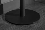 Bartafel MANDY 120cm eiken look bartafel met zwart onderstel
