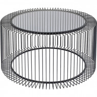 Design draadframe en grafisch designtaal salontafel rond 80cm