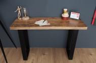 Design sidetable bureau tafel IRON CRAFT 115 cm mangohout ijzeren