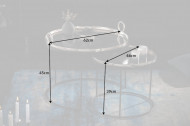 Elegante set van 2 salontafels ELEMENTS 62 cm zilver met afneembaar tafelblad