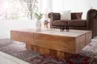 Exclusieve massieve salontafel BOLT II 110 cm Sheesham Stone Finish