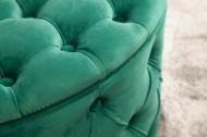 Hocker gecapitonneerd met opbergruimte Smaragdgroen 75 cm