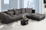 Loungebank Model: Trendy - Zwart / Antraciet