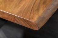 Massief Acacia Hout Boomstam Eettafel 180cm blad dikte 3,5cm