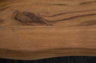 Massief Boomstam Accacia Hout Eettafel 160cm Bladdikte 2.6 cm industrieel sledeonderstel