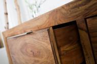 Massief dressoir PURE 135 cm palissander met sheeshamsteen afwerking