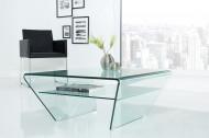 Moderne vierkant glazen transparant salontafel FANTOME 70 cm